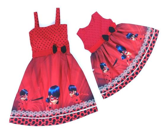 Sap Vestidos Mãe E Filha Ladybug Miraculous