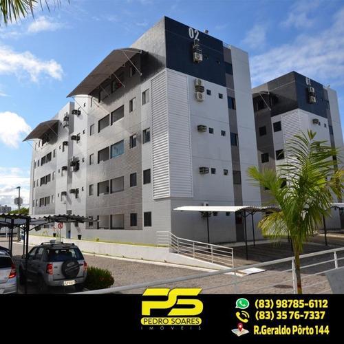 (oferta) Apt C/ 3 Qts, 01 Ste, À Venda, 86 M² Por R$ 250.000 - Portal Do Sol - João Pessoa/pb - Ap1924