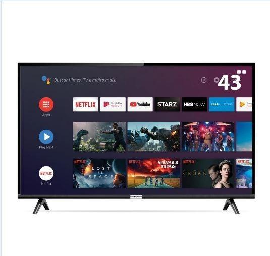 Smart Tv Led 43 Full Hd Tcl Android, Comando De Voz