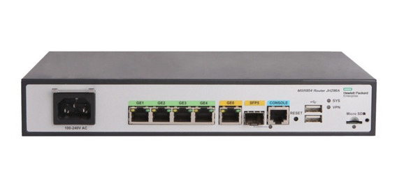 Roteador Hpe Msr954 1gbe