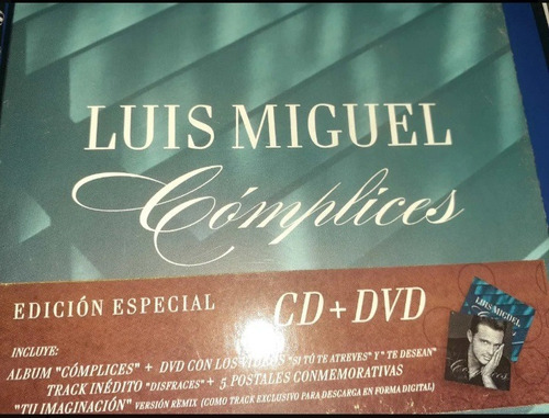 Cd Dvd Luis Miguel Complices Edición Especial Sellado Mercado Libre