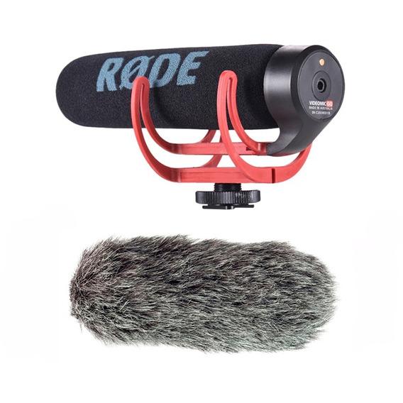 Microfone Shotgun Rode Videomic Go Com Deadcat