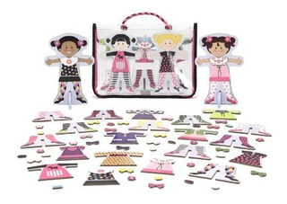 Melissa & Doug Childrens Tops And Tights Magnetic Dress-up