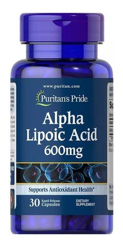 Acido Alpha Lipoic Alfa Lipoico Antioxidante 600mg