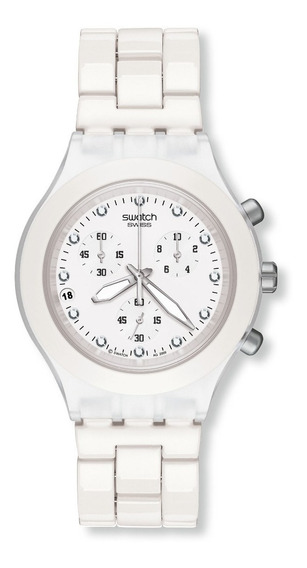 Relógio Swatch Full Blooded Branco Svck4045ag