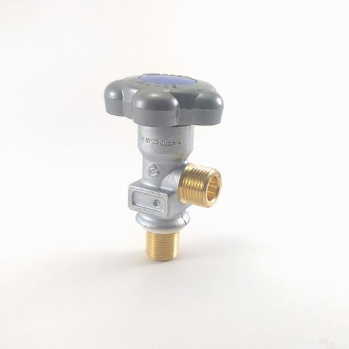 Imagem 1 de 4 de Válvula Para Cilindro De Oxigênio Alumínio 3/4 16unf