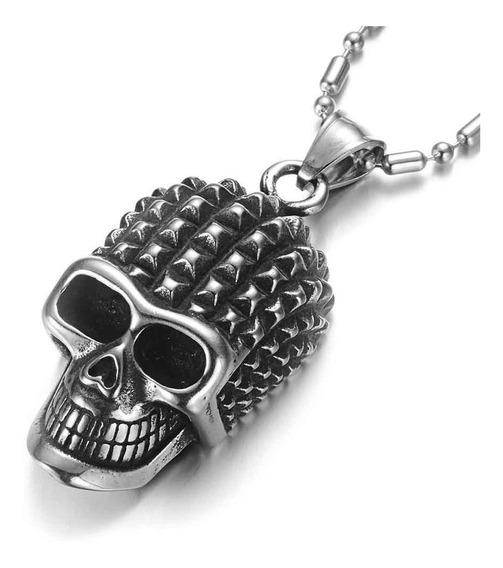 Dije Calavera Cráneo Hombres Acero Inoxidable Punk Rock Er23