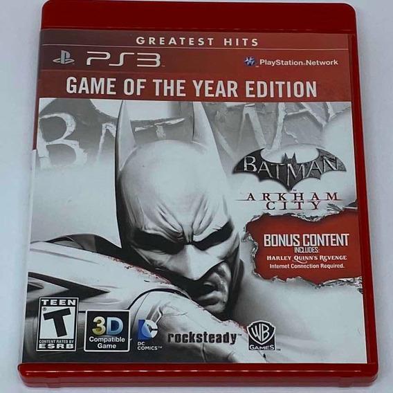 Game Batman Arkham City Ps3 - Goty Edition