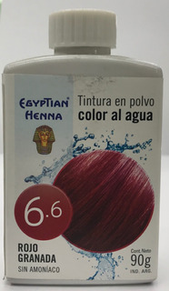 Egyptian Henna Color Al Agua 90 Gr N° 6.6 Rojo Granada