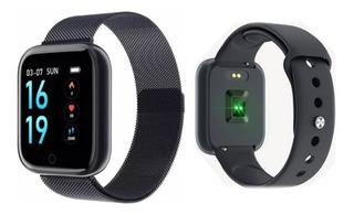 Relógio Bluetooth T80 Smartwatch Inteligente - 2 Pulseiras