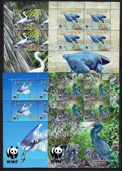 Wwf - Penrhyn 2008 - Aves, Garças - Série Completa!