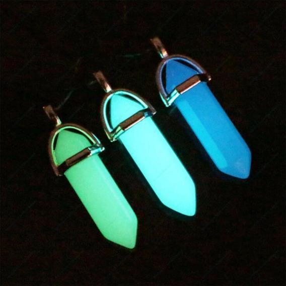 Collar De Cuarzo Brilla Oscuridad Luminiscente Fluorescente