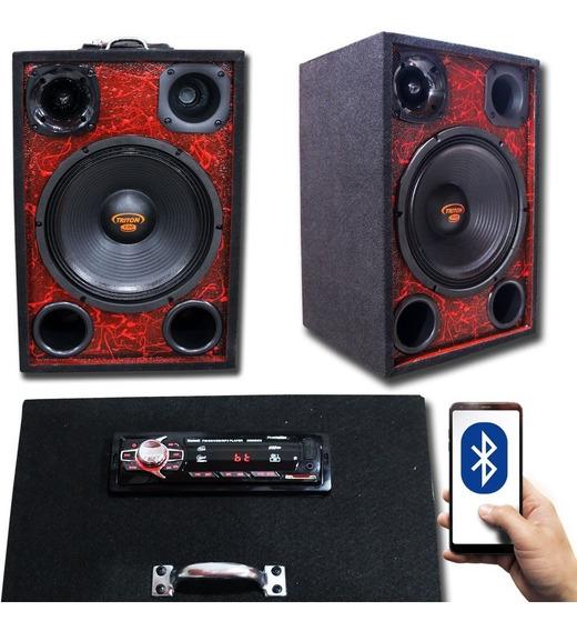 Caixa Residencial Casa Bluetooth Usb Radio Woofer Taramps