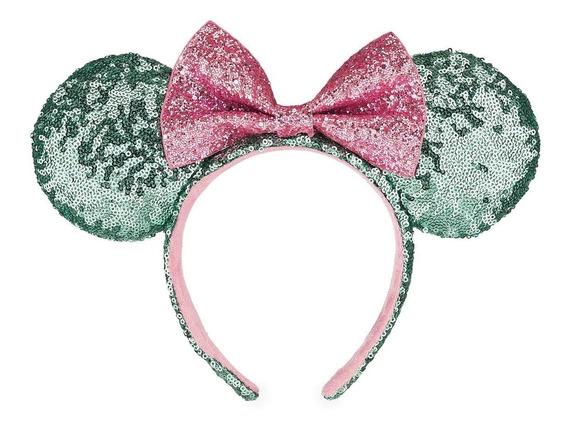 Disney Parks Minnie Mouse Diadema Orejas Lentejuela Mint