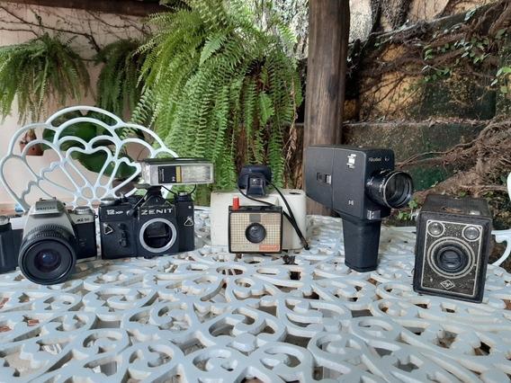 Câmeras Antigas Lote Com 5