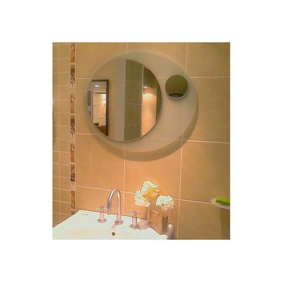 Espejo Reflejar Cristal Arenado Ovalado 56x66 Sin Interes