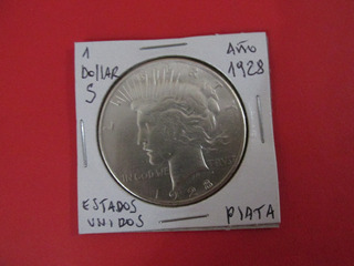 Moneda 1 Dollar Peace De Plata Estados Unidos Año 1928