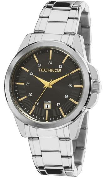 Relógio Masculino Technos Aço Prata 2115mla/1p Analógico