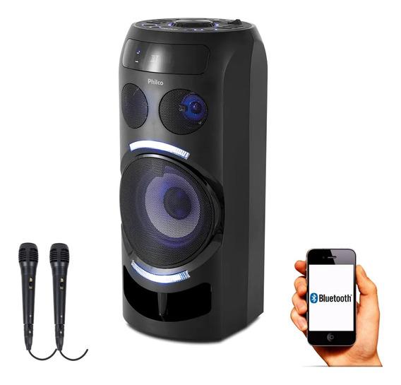 Caixa Amplificada 150w Charge Philco Pcx 3500 2 Microfones
