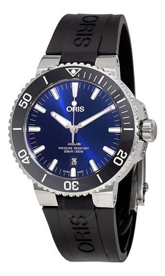 Relógio Oris Aquis 017337730413507 Automatico 43,5 Mm Azul