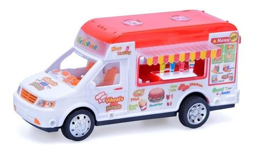 Imagen 1 de 2 de  Camión Helados Food Truck A Friccion Auto Juego Juguete