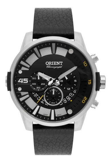 Relógio Orient Masculino Cronógrafo Mbscc052 P2px Aço Couro
