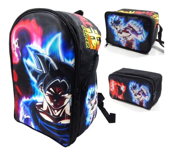 Mochila Dragon Ball Combo Lonchera Lapicera Goku Jiren Envio