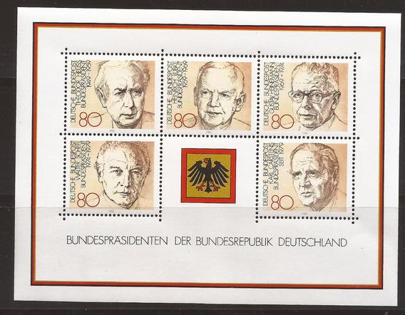 Alemania 1982 Bloque Presidentes De Alemania Mint - 127