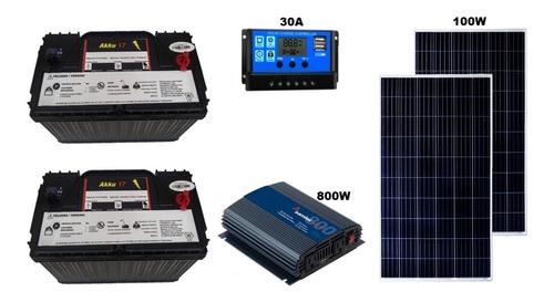 Imagen 1 de 6 de Kit Solar 1000wh/día Fotovoltaico, Envío Ocurre Gratis