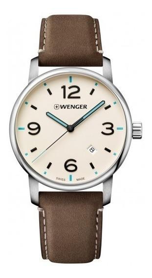 Relógio De Pulso Suíço Wenger Urban Classic 42mm 01.1741.118