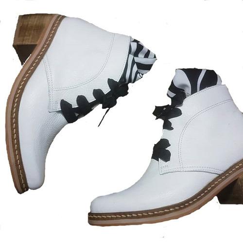 Botas De Cuero Bianca Para Dama Di Renata Shoes