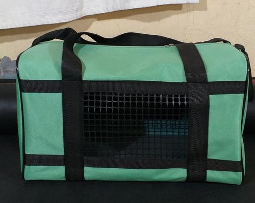 Bolso Transportador Mascota Color Verde Clarito
