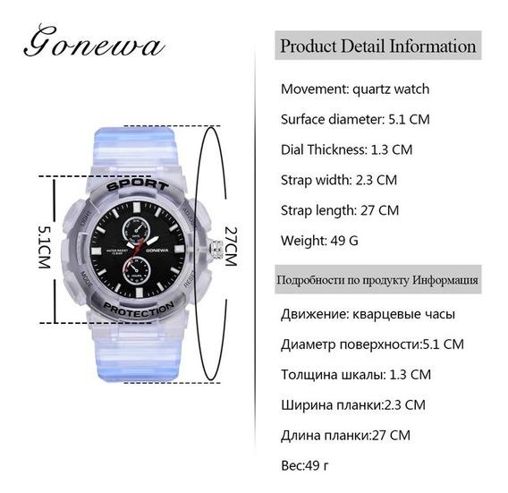 Relógio Gonewa Sport G-force Silicone