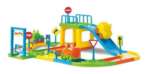 Pista De Carrinhos Brinquedo Corrida Infantil + 2 Carrinhos