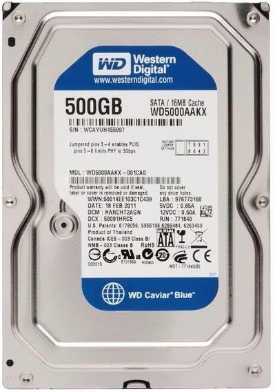 Hd Wd Blue 500gb