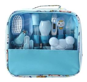 Kit Higiene Cuidados Do Bebe Brinde Chupeta Alimentação Azul