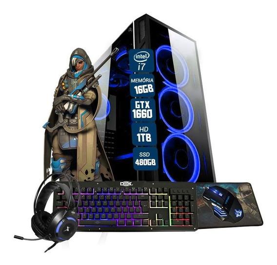 Pc Gamer Eros Intel I7 Gtx 1650 16gb Hd 1tb Ssd 480gb Wi-fi