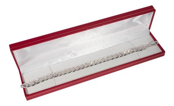 Pulseira Masculina 9mm Grumet Escama Prata 925 Maciça