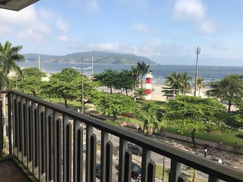 Imagem 1 de 8 de Apartamento Com 3 Dormitórios Para Alugar, 380 M² - Boqueirão - Santos/sp - Ap10341