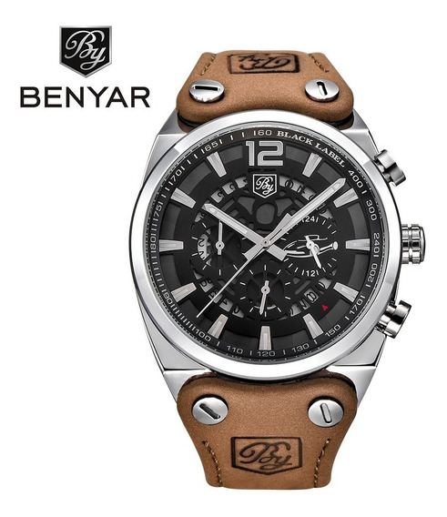 Relógio Militar Benyar 5112 Sport Inox Motorcycles