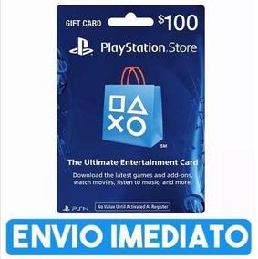 Cartão Playstation Psn Plus Brasil Brasileira R$100 Reais