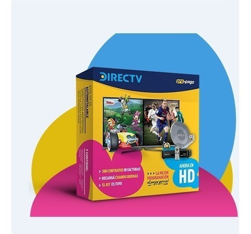 En Lanus Kit Directv Prepago Hd Antena 60 Cm Con 2 Decos