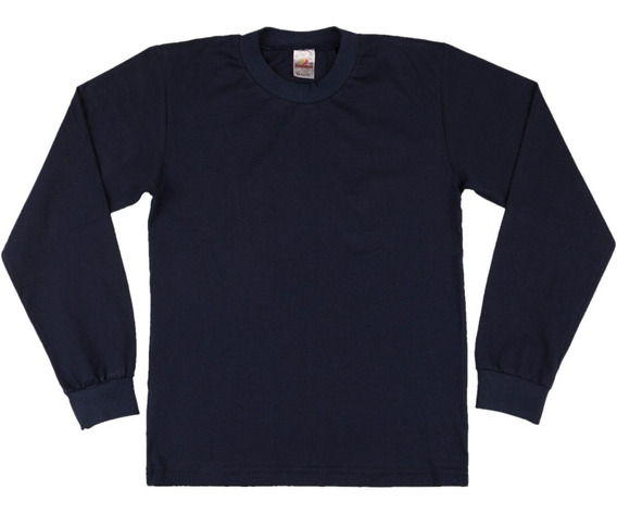 Camiseta Manga Longa Escolar Menino 100% Algodão Isensee