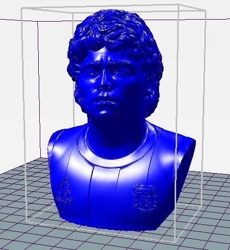 Busto Maradona - Archivo Stl Para Imprimir