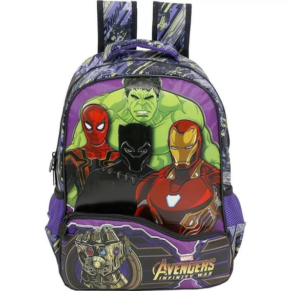 Mochila Avengers Infinity Light War 7512 - Original