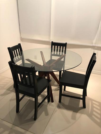 Conjunto De Mesa De Jantar E 4 Cadeiras