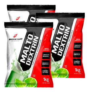Kit 3x - Maltodextrina 1kg - Body Action