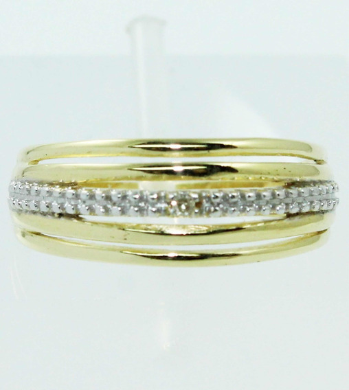 Pocao2005- Anel Ouro 18k Diamantes Vivara 12x S/j Ft/gt 504