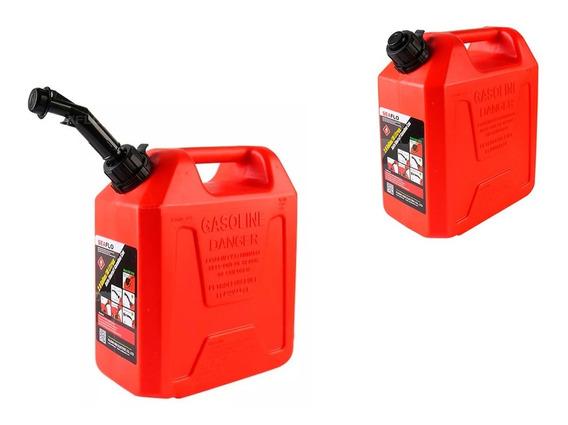 Galão Tanque De Gasolina Combustível 10 Litros C/ Bico