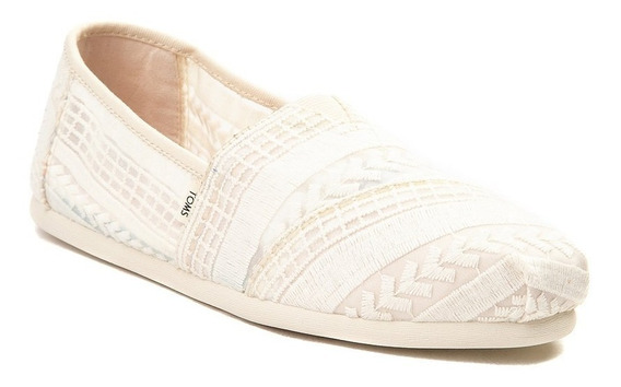 Zapato Casual Toms Modelo. 350294 Beige Natural Mujer / H